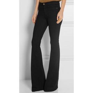 FRAME Forever Karlie Wide Leg Black Jeans Size 28